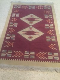 "HAND WOVEN REVERSIBLE WOOL TURKISH KILIM, RUG 4'x6"", reduced from $240 Northbrook, 60062"
