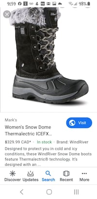 Women's Snow Dome Thermalectric ICEFX Boots- Black   Calgary, T2K 5A2