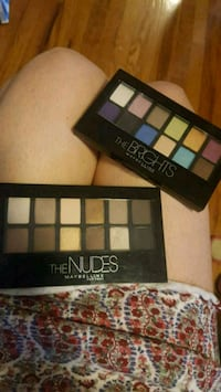 Maybelline nudes and brights eyeshadow palettes Westmount, H3Z 1G3