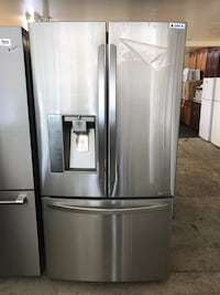 grey 3-door french refrigerator with dispenser Franklin Lakes, 07417