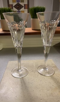 2 Waterford Crystal Millennium love hearts toasting flutes Brant, N0B 1W0
