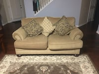White fabric 2-seat sofa