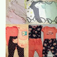 Bundle of little baby girls 6-9 months onesies