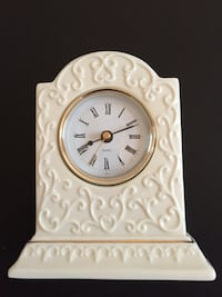 "Bone China Quartz Table Clock-5+"" tall Arlington, 22204"