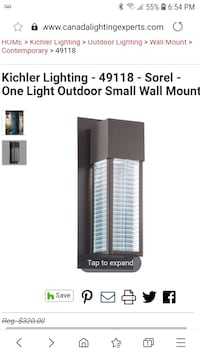 Reduced! Sorel Light Outdoor Small Wall Mount