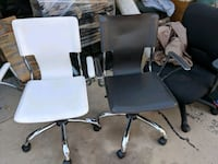 two gray and black rolling armchairs Riverside, 92505
