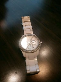 round silver-colored chronograph watch with link b Dallas, 75253