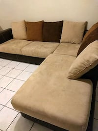 brown and black sectional couch El Paso, 79936