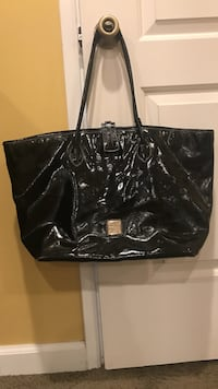 Dooney & Bourke Black Patent Leather Tote