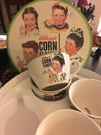 Kellogg's corn flakes cup and plate set Columbia, 21044