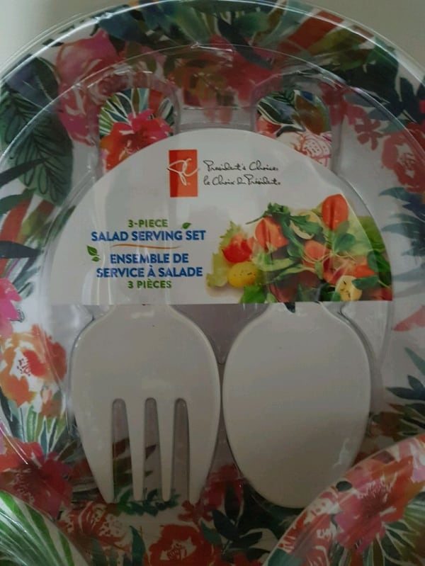 NEW  3pcs Salad Serving Set. Dishwasher Safe.  $10 14c05753-5b5a-44ab-ad1d-b3c671be0488