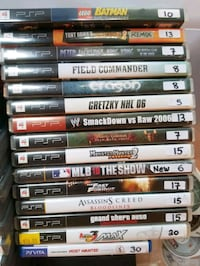 PSP games for sale individually  Vaughan, L4L