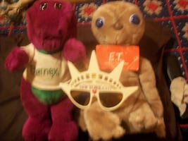 """BARNEY DOLL 1' 1/3"""",NYC STATUE OF LIBERTY CROWN SUNGLASSES"""