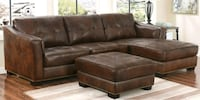 Brand new 3pc leqther sectional