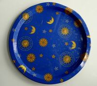 "12"" Gold Moon and the Stars on Blue Tray $5 (Bethesda) Bethesda, MD, USA"