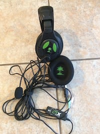 Turtle Beach Ear Force X12 Full-Size Gaming XBox Headset - Black/Green Los Angeles, 91335