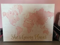 She's Going Places Map Canvas Montgomery Village, 20886