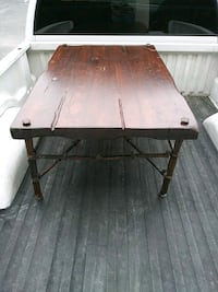 coffee table from railroad spikes New Braunfels, 78130