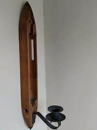 Antique weaving shuttle candle holder Pittsford, 14534