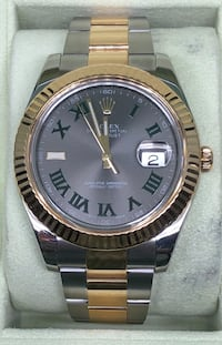 ROLEX Datejust 2 Fluted Bezel and Green Roman Numerals EXCELLENT CONDITION. Costa Mesa, 92627
