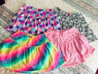 Kids Size 7 colorful skirts with shorts under Springfield, 22150