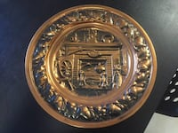 Vintage Copper Decorative Wall Hanging Plate  New Westminster