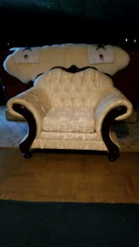 white and brown wooden armchair Suitland-Silver Hill, 20746