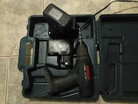 black Bosch cordless drill with case