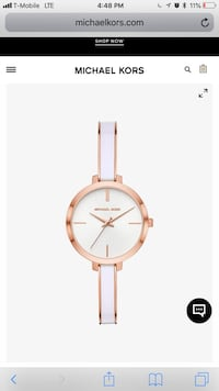 Michael Kors Gold and White Watch Alexandria, 22304