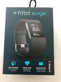 Fitbit Surge Black Large. Never used. Washington, 20003