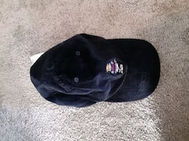Navy blue hockey bear  hat