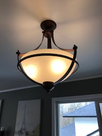 Brown  pendant lamp. In great condition. Remodeling so changed out this for something else   Maple Ridge, V2W 1X9