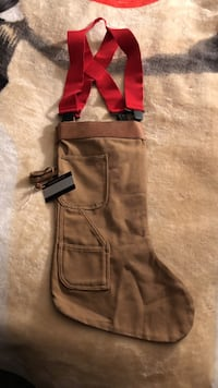 Carpenter stocking with red suspenders .. large Stockton, 95209