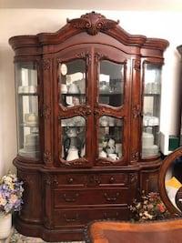 brown wooden framed glass display cabinet Columbia, 21046