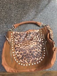 brown and black leopard print leather backpack Surrey, V4A 5H8