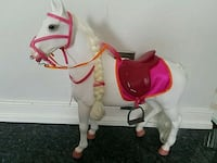 white and red rocking horse Jessup, 20794