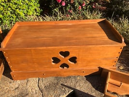 Handmade Solid Wood Heart Chest