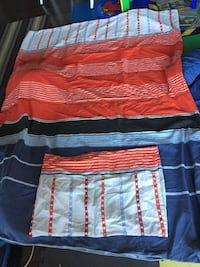 Twin size , quilt, flat sheet, fitted sheet and 2 pillow cases n 3131 km