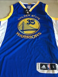 Amarillo y azul Golden State Guerrero Stephen Curry camisa de jersey de distancia Madrid, 28054