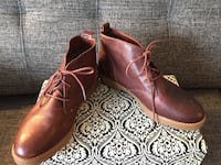 pair of brown leather boots Côte-Saint-Luc, H4W 1P5