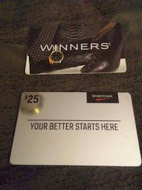 Gift Cards with $25 on each Edmonton, T6E 1Y8