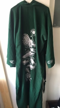 green and white floral long-sleeved dress Montréal, H2P