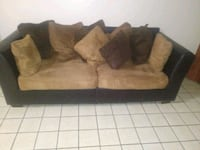 brown and black suede sofa Kissimmee, 34741