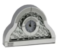 CLOCK, MIRRORED TABLE CLOCK