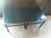 rectangular black metal framed glass top table Oklahoma City, 73114