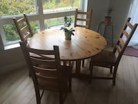 Extendable dining table  and 4 IKEA KAUSTBY dining chairs Richmond