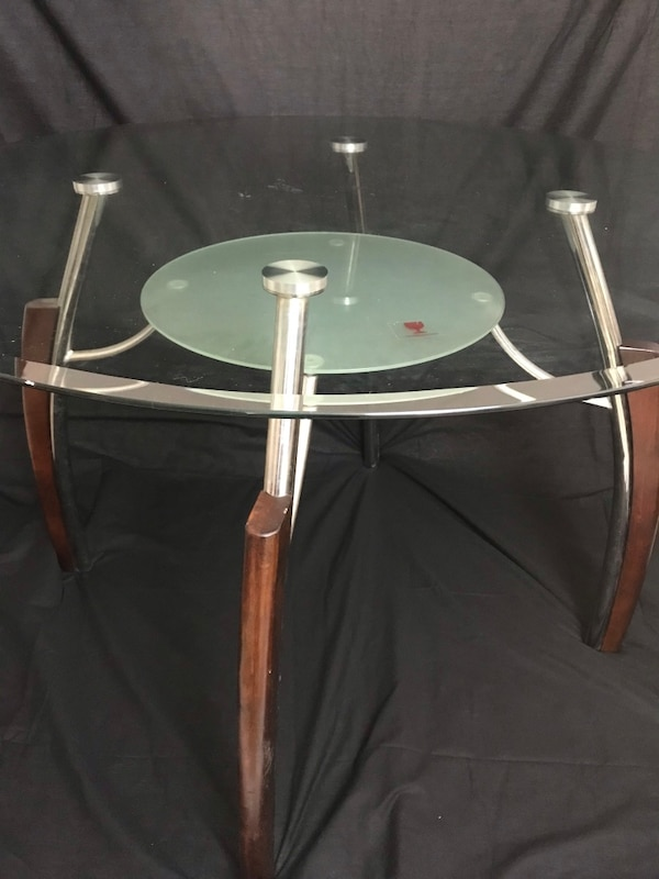 Round glass dining table 2