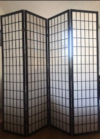 4 panel black frame room divider 37 km