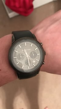 Round black Michael Kors Analog Chronograph watch with black rubber strap Wilmington, 19808