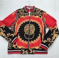 red and white floral zip-up jacket New York, 11422